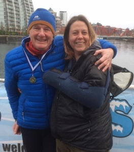 1st January 2017 – Open Water Polar swim at Salford Quays.